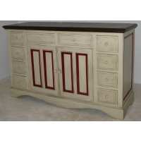 Indonesia furniture manufacturer and wholesaler Sideboard 2 Doors 10 Drawers